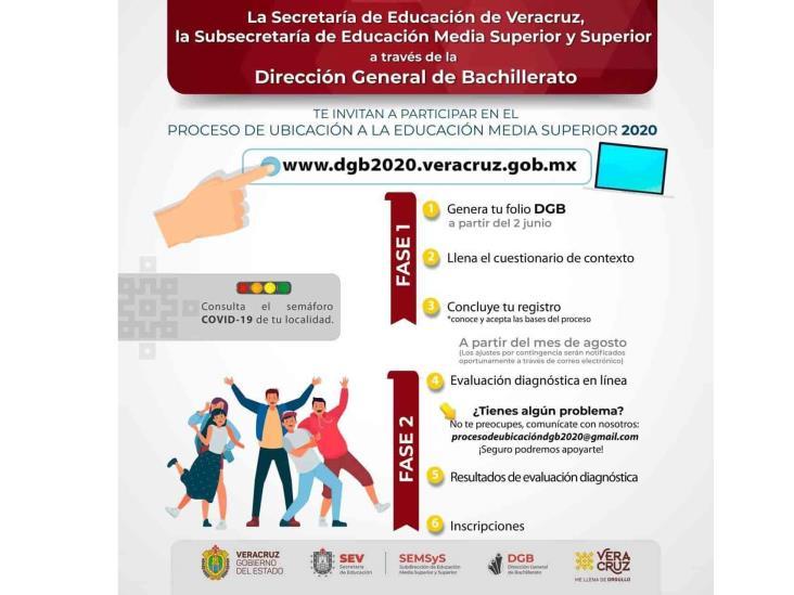 Inicia registro electrónico para estudiar bachillerato en Veracruz