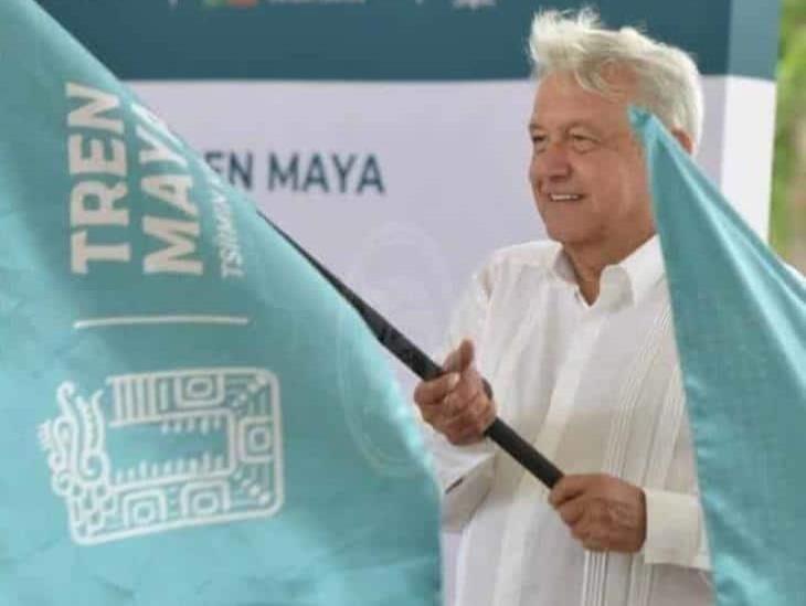 Da AMLO tercer banderazo del Tren Maya en Campeche