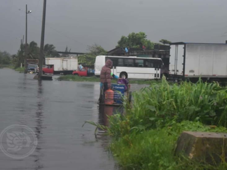 Se inundan zonas bajas de Coatza; habilitarían el INAPAM como albergue