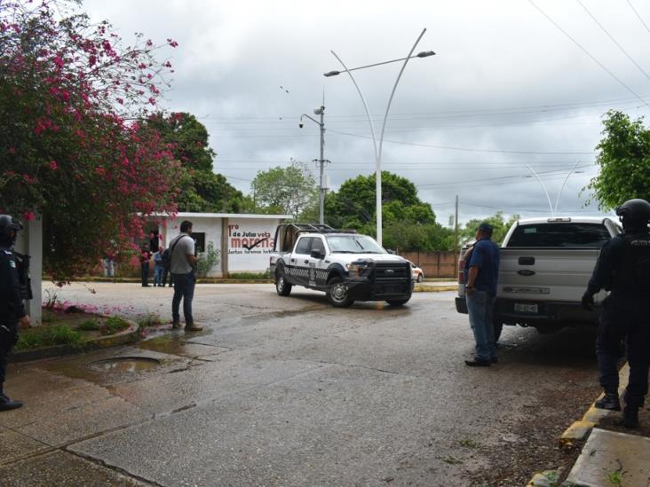 Por amenaza de bomba, evacuan sala de Juicios Orales de Acayucan