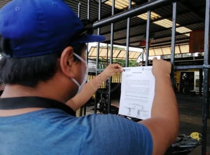Sancionan en Minatitlán a gimnasios que funcionan en plena pandemia