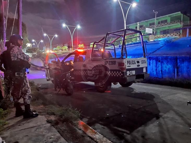 Menor provoca persecución al intentar burlar policías en Acayucan