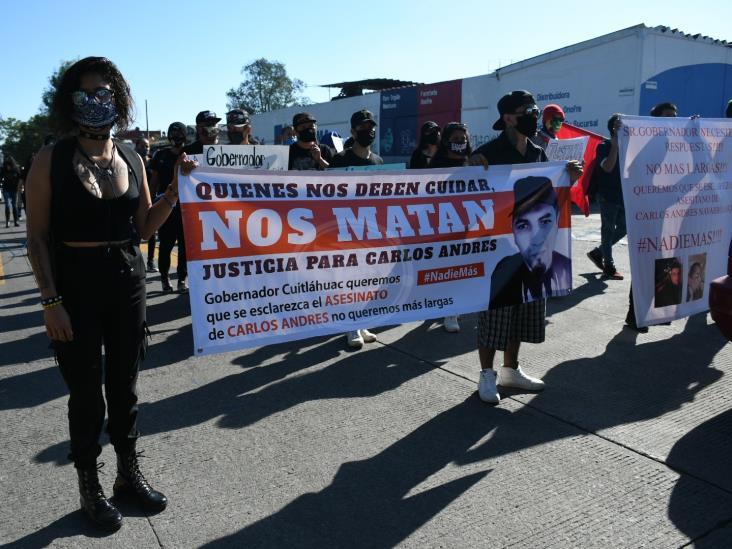 En Veracruz la Policía también mata a ciudadanos,  claman en protesta por Carlos