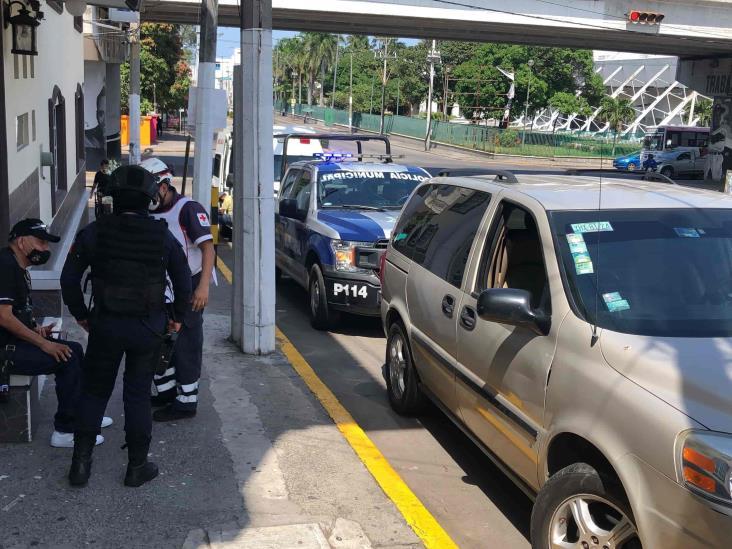 Ciclista resulta lesionado tras ser impactado por conductor en Veracruz