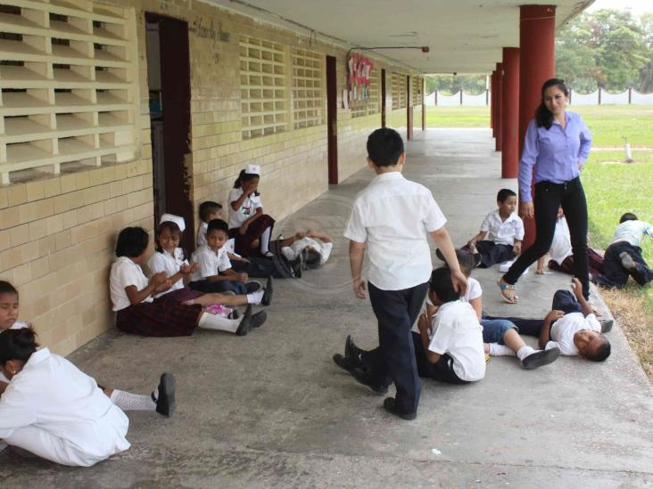 Última semana de clases para alumnos de primaria en Agua Dulce