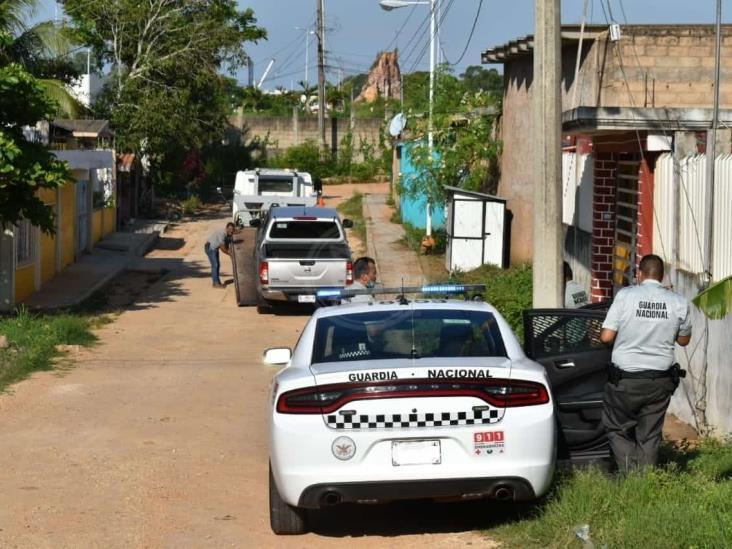Frustra GN asalto a transportista y asegura camioneta en Acayucan