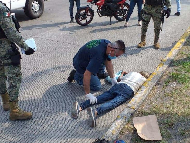 Atropellan a mujer que intento cruzar avenida en Veracruz