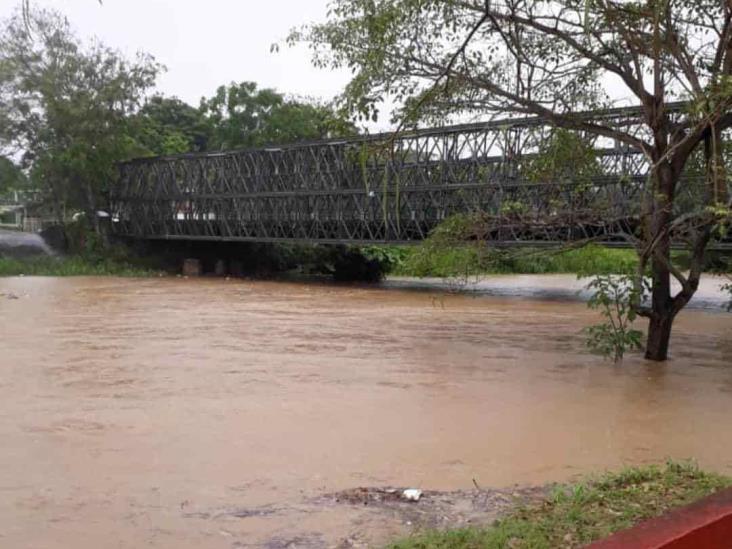 Activa SPC-Veracruz refugios ante crecida de río en Agua Dulce