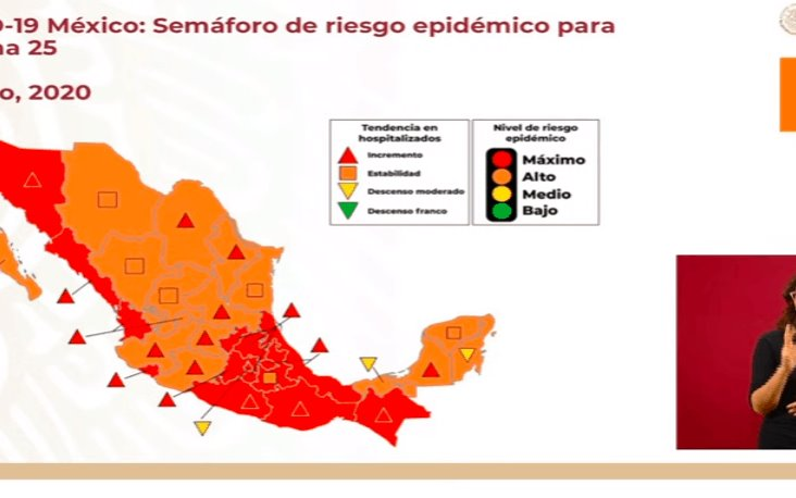 Lista de estados que pasaron al semáforo naranja por Covid y los que siguen en rojo