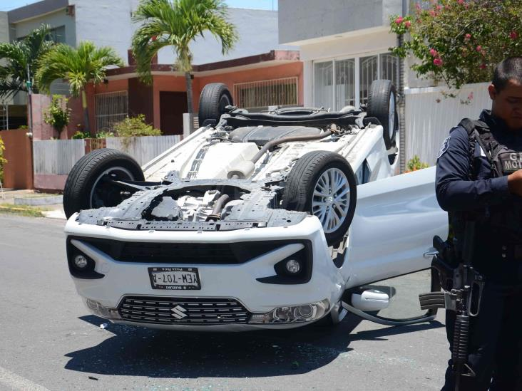 Se registra accidente en calles de Veracruz