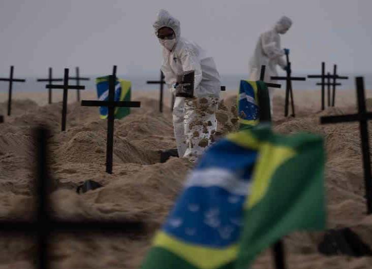 Más de 80 mil muertos en AL por coronavirus; la mitad, en Brasil