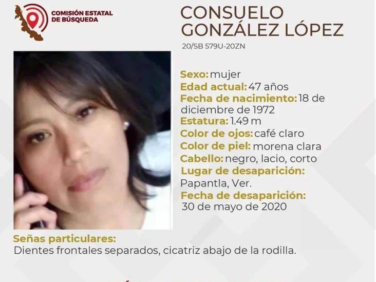 Familiares buscan a Consuelo, desapareció en Papantla