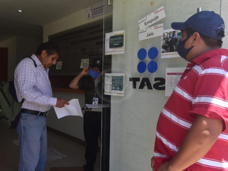 SAT en Coatzacoalcos solo brinda servicio con cita previa