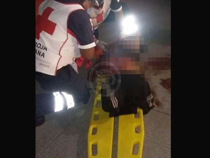 Arrollan a persona con discapacidad en Coatzacoalcos