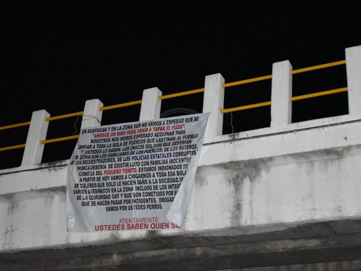 Justicieros lanzan advertencia contra delincuentes en sur de Veracruz