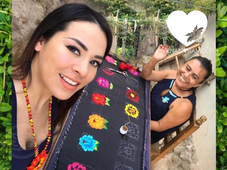 Veracruzana pone en alto la cultura textil mexicana en la Capital de la Moda