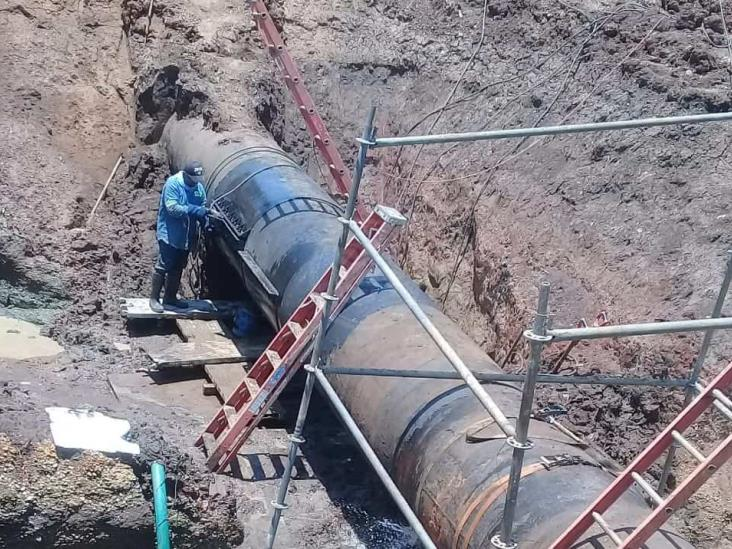 Invierte CAEV 5 mdp para reparar fugas del acueducto Yuribia