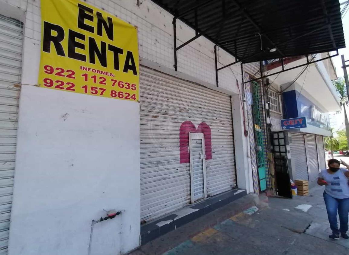 Crece el número de locales cerrados por rentas costosas y falta de clientes en Mina