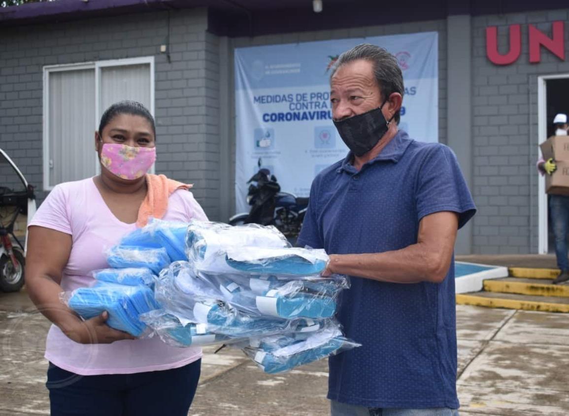 Se fortalece el cerco sanitario contra el Covid-19 en la zona rural de Cosoleacaque