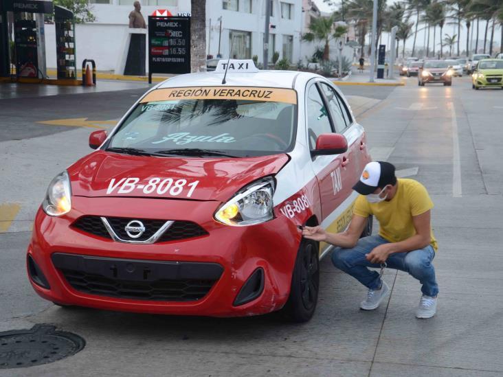 Se registra fuerte accidente en fraccionamiento de Veracruz
