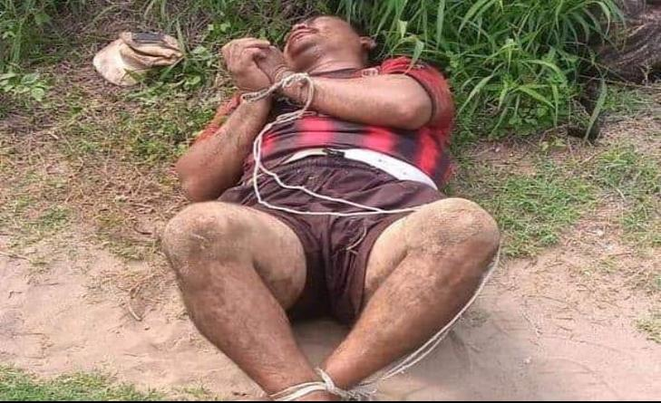 Vecinos amarran a presunto ladrón en Veracruz