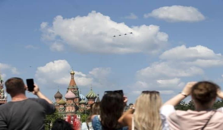 Rusia celebra un deslucido Día de la Victoria, pospuesto por el Covid-19