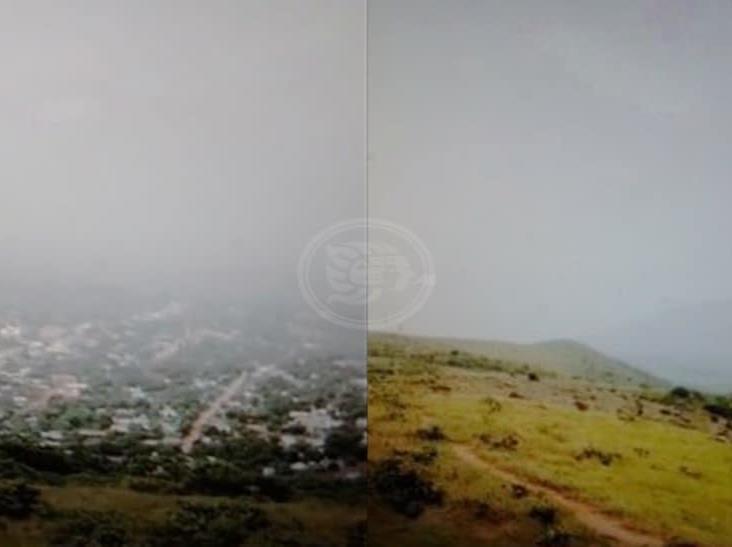 Polvo del Sahara cubre al Cerro de San Martín en sur de Veracruz