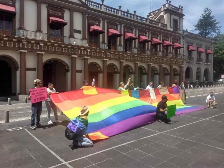 Se manifiestan Colectivos por la Diversidad Sexual de Xalapa