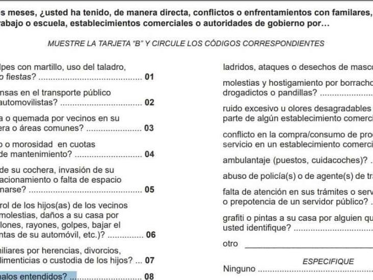 Resultados de la ENSU hechos con chismes y menos de 300 personas