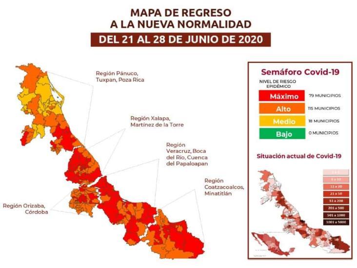 Riesgo máximo de contagios de Covid-19 en el sur de Veracruz