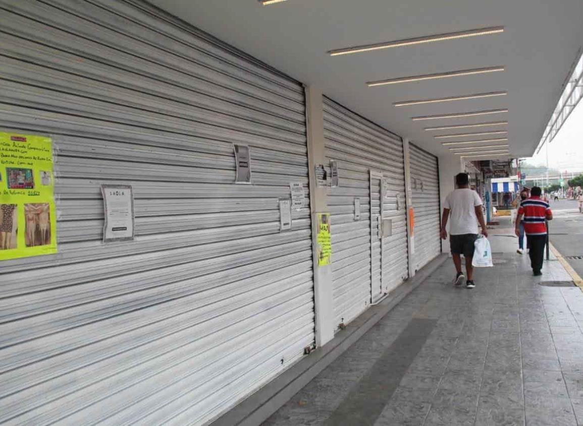 Quiebran varios comercios en Tuxpan por pandemia, aseguran