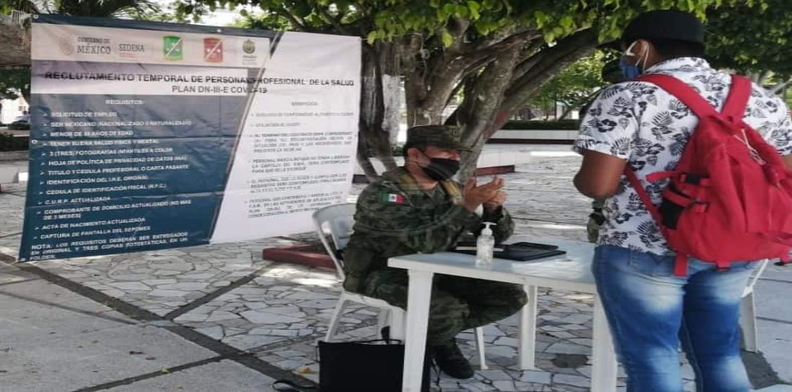 Ejército mantiene módulo para reclutar médicos especialistas
