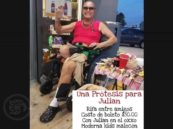 Recaudan fondos para Julián, persona con discapacidad motriz