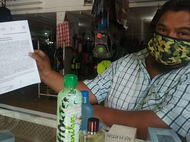 Comercios no esenciales de Coatzacoalcos se resisten a dejar de trabajar