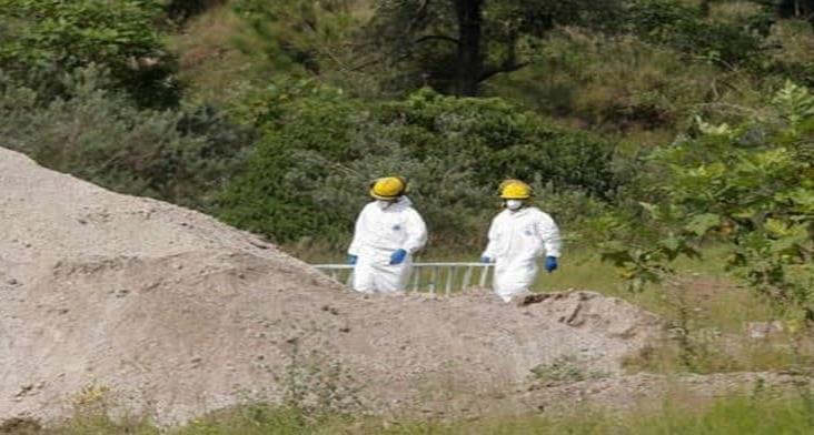 Localizan 86 bolsas con restos humanos en las afueras de Guadalajara