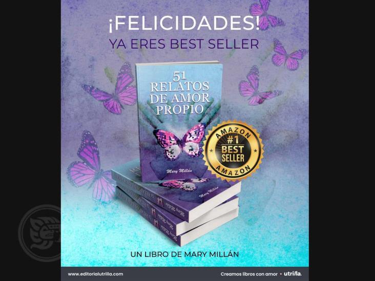 Orgullosa escritora minatitleca lanza su libro 51 relatos de amor propio