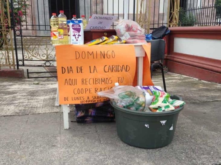 Iglesia colecta alimentos para distribuir entre población de Orizaba