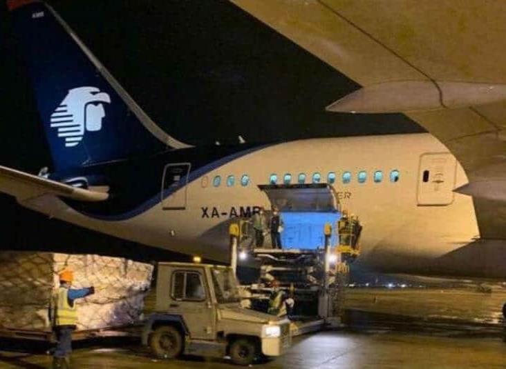 Arriba el vuelo número 23 de China con ventiladores para pacientes Covid-19