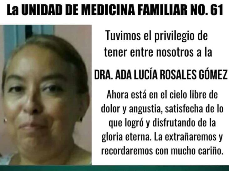 Fallece doctora del IMSS en Córdoba; habría sido por COVID-19