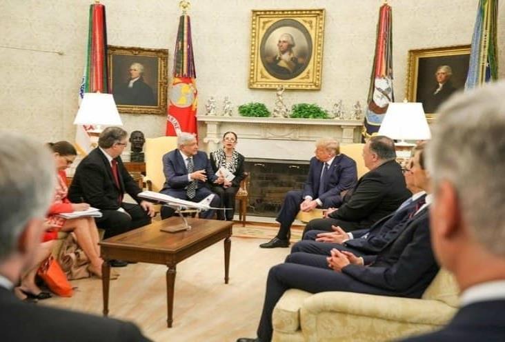 López Obrador y Trump se reúnen con comitivas en la Casa Blanca