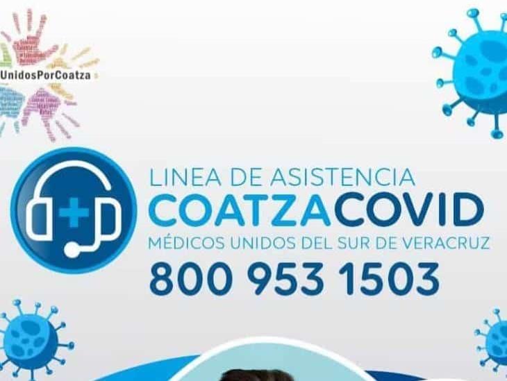 Línea de Asistencia Covid ya atiende en Coatzacoalcos