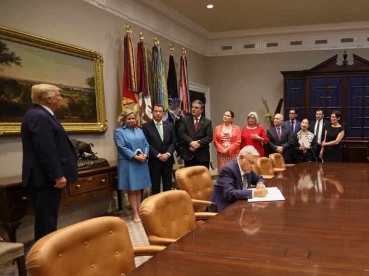 Con discurso celebra presidente Andrés Manuel visita de estado a Estados Unidos