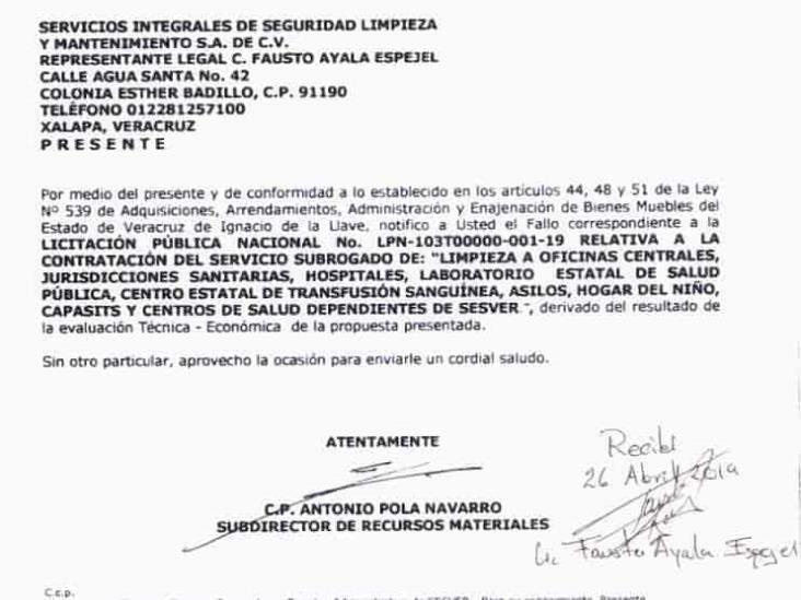 Empresa yunista con contrato millonario en Sector Salud