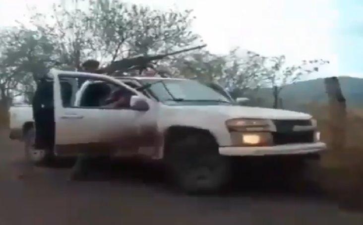 Difunden imágenes del topón entre el CJNG y Cárteles Unidos en Michoacán