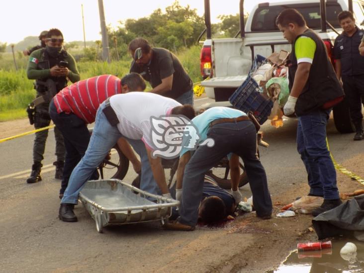 Motociclista derrapa y muere en carretera de Rodríguez Clara
