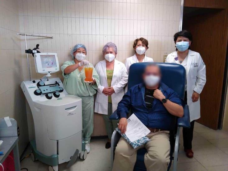 Donación de plasma de paciente recuperado de COVID-19 en Orizaba, una esperanza