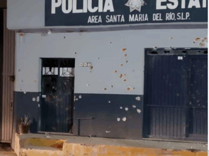 Atacan sicarios sede de la policía estatal en San Luis Potosí
