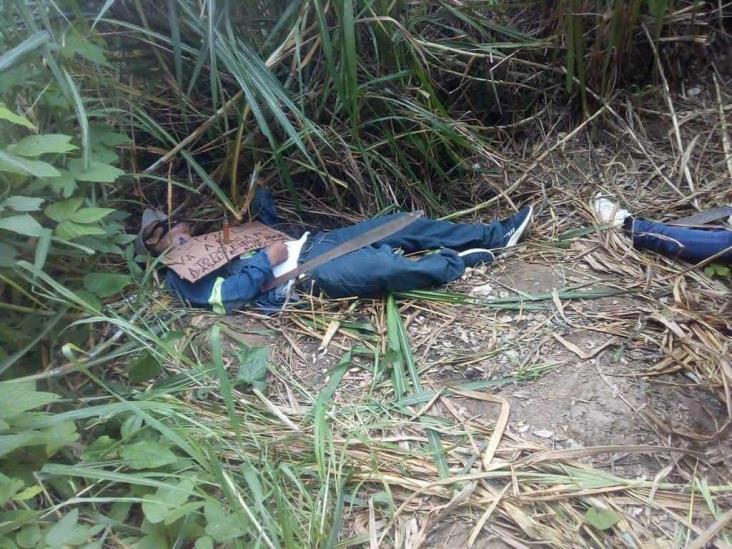 Hallan dos ejecutados en Moloacan