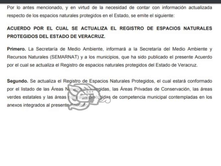 Actualiza Sedema las Áreas  Privadas de Conservación en Veracruz