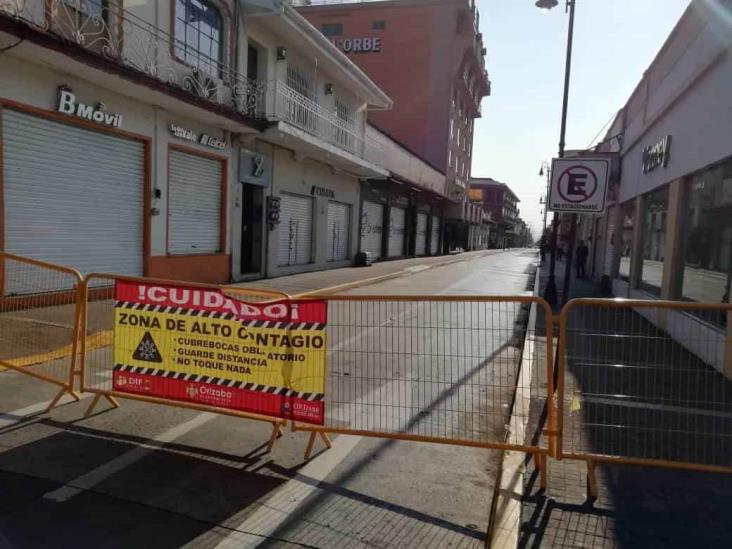 Cierran centro histórico de Orizaba para contener contagios por Covid